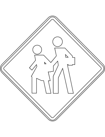 School Zone Sign In Mexico Coloring Page Free Printable Coloring