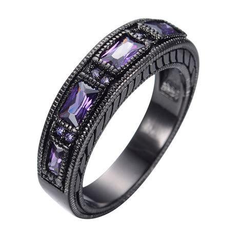 Size 5 12 Vintage Purple Amethyst Wedding Ring Men/Womens