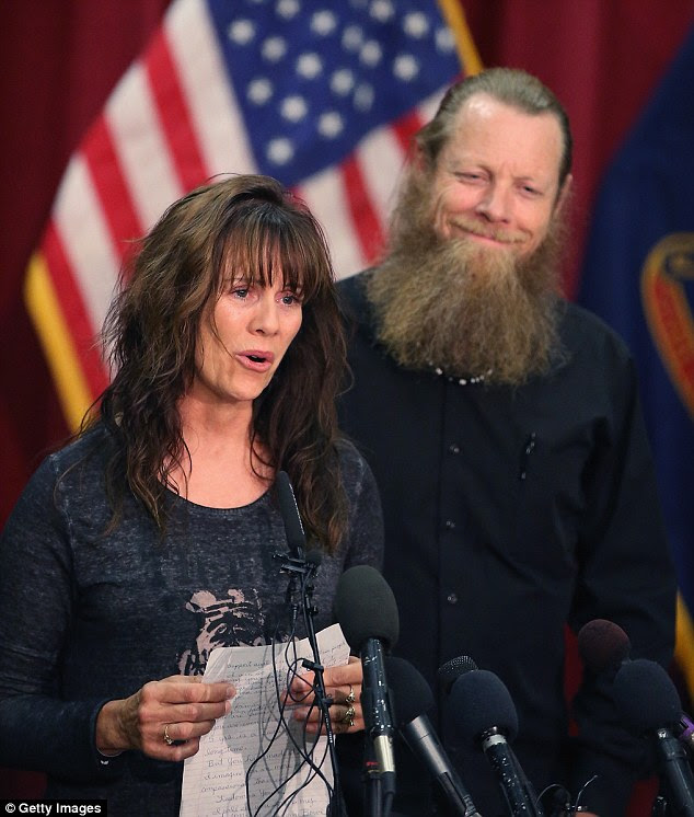 Good for them: Andy Andrews told MailOnline that he felt relief for Bob Jani Bergdahl. But he added: 'We will never be able to get our son back... I think people need to be aware that they guy was not a hero and American lives have been lost trying to save this deserter'