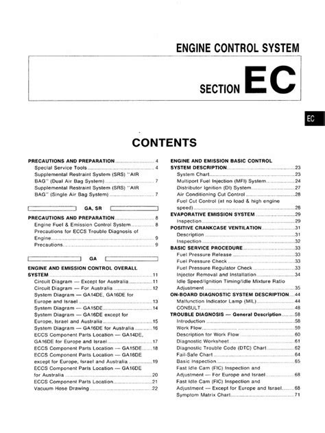 Nissan Almera n15 - Engine Control System.pdf | Throttle