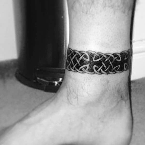 60 Ankle Band Tattoos For Men - Lower Leg Design Ideas
