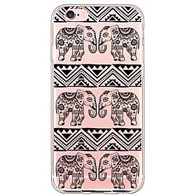For Etui iPhone 6 / Etui iPhone 6 Plus Ultratynn / Gjennomsiktig Etui Bakdeksel Etui Elefant Myk TPU AppleiPhone 6s Plus/6 Plus / iPhone