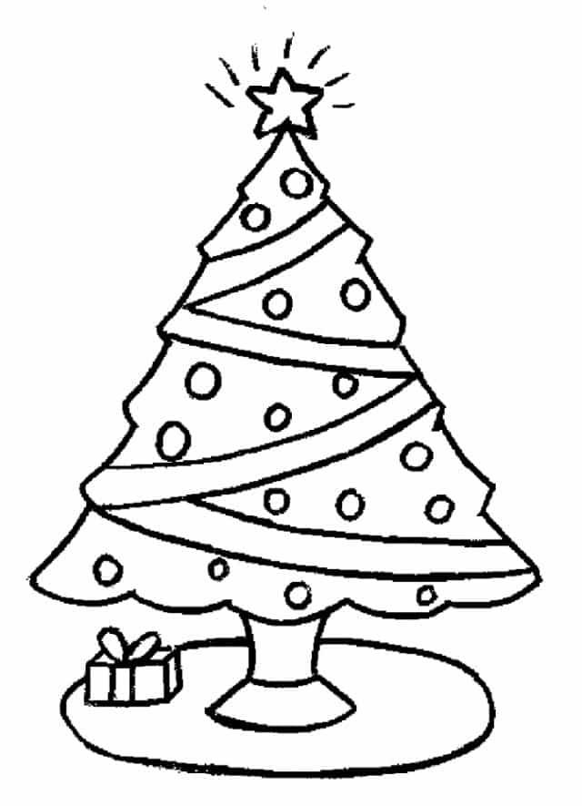 Dibujos Arbol De Navidad Imagenes Para Colorear Para Imprimir Gratis