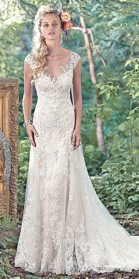maggie sottero vintage lace wedding dress   Wedding