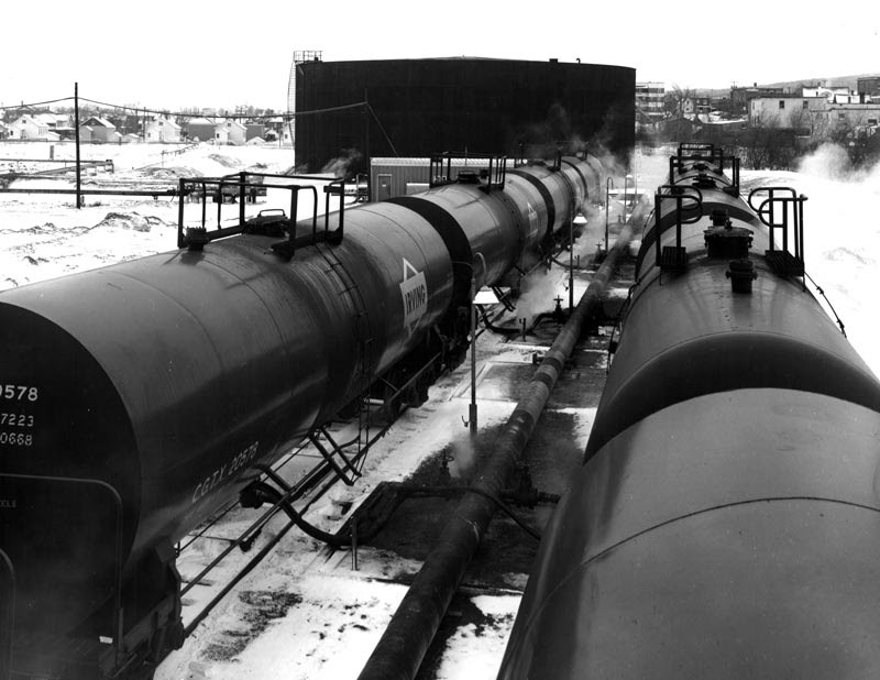 Irving Oil tank cars in Edmundston