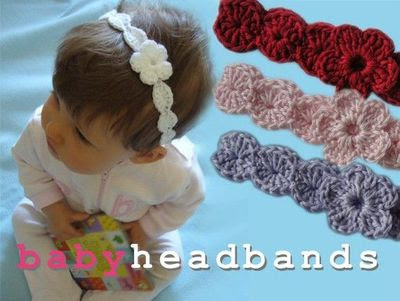Free Knitting Pattern For Baby Headband With Flower Knitted