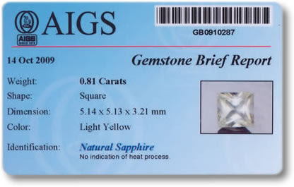 Gemstone Identification Report