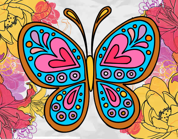 Dibujo De Mariposa De Las Flores Pintado Por Valenswagg En Dibujos