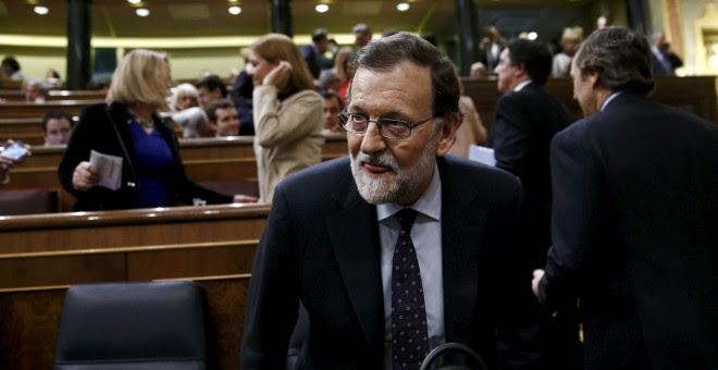 El presidente del Gobierno en funciones, Mariano Rajoy, en el Congreso.- REUTERS/Juan Medina
