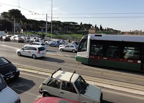 Driving on the Tram Tracks