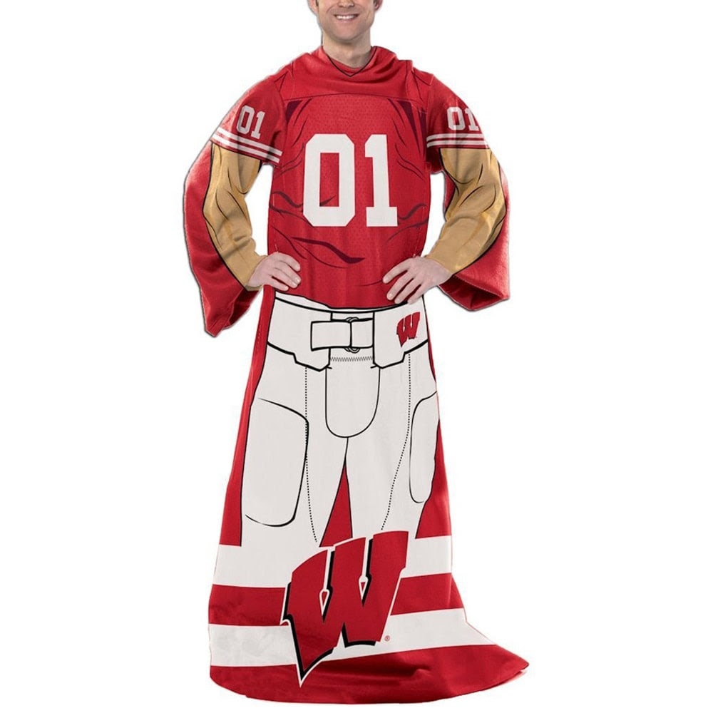 Wisconsin Badgers Unisex Player Comfy Throw - Cardinal