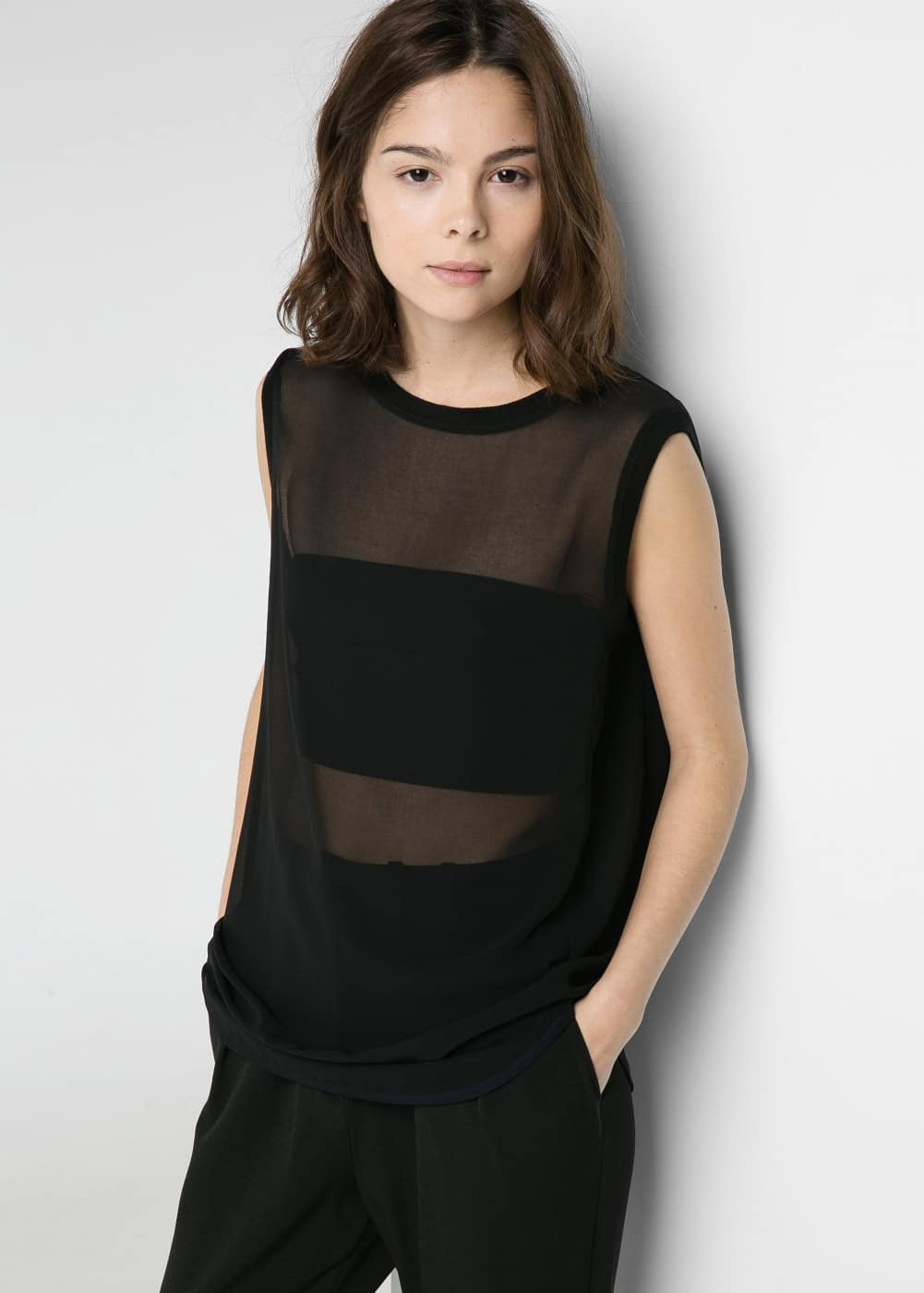Chiffon transparent top