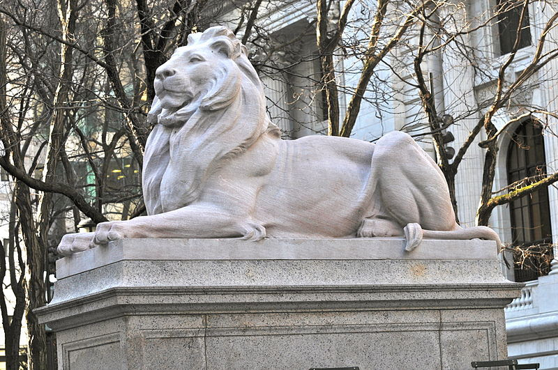 File:New York Public Library Lion.JPG