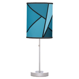 Abstract Teal Polygons Lamp