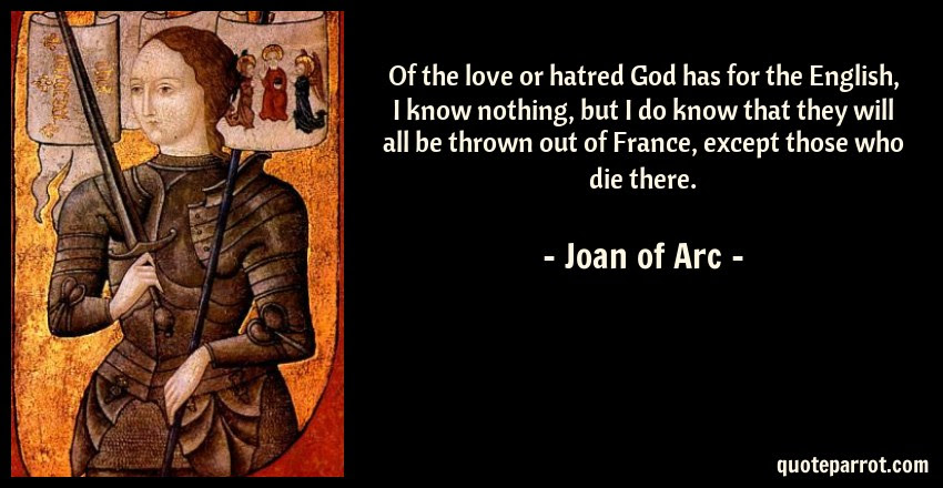 Of The Love Or Hatred God Has For The English I Know N By Joan