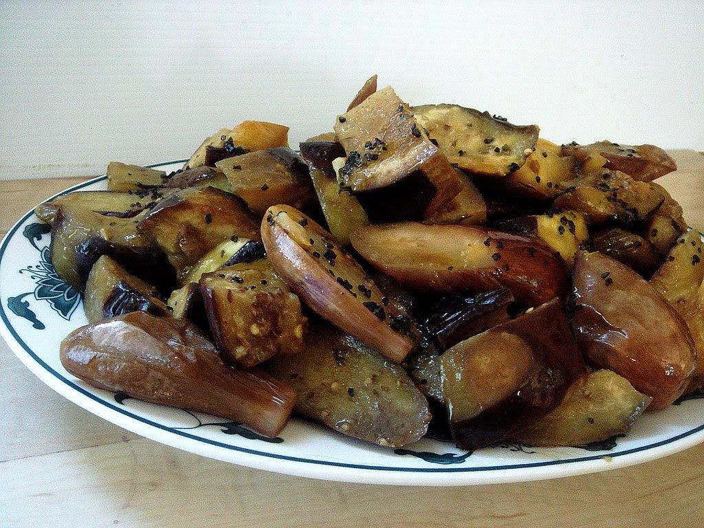 Eggplant with Bossa Nova Juice-miso vinaigrette