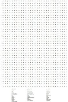 Hard Printable Word Searches for Adults | ... word search by ...