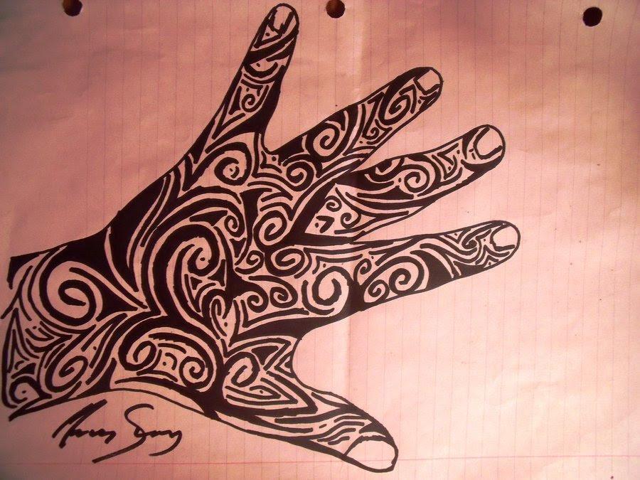 Tribal Hand Tattoo Design