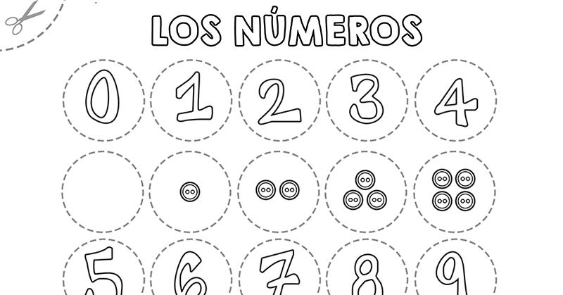 Números Para Colorear Y Recortar 0 10 Papelisimo