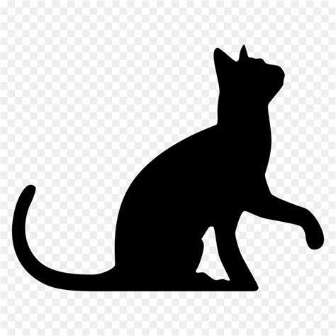 Black cat Silhouette Wedding cake topper Clip art   animal