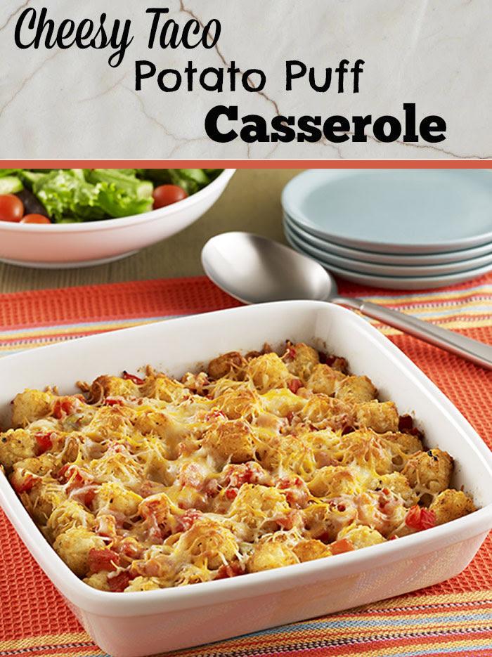 Cheesy Taco Potato Puff Casserole by Shibley Smiles