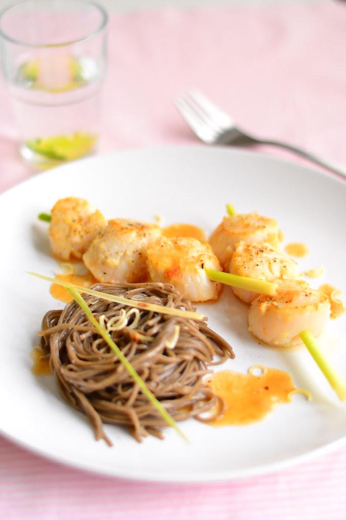 Lemongrass scallops and soba 4