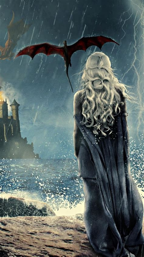 game  thrones khaleesi art  iphone