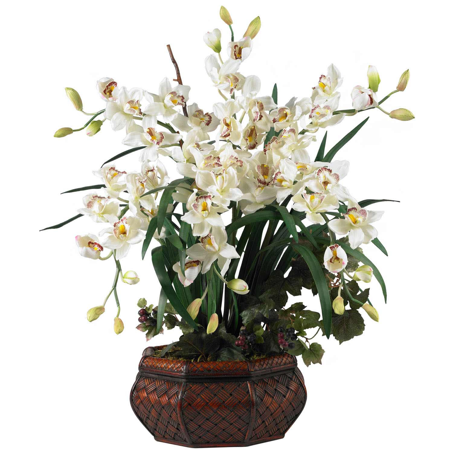 Large Cymbidium Orchid Silk Flower Arrangement 1199 Nearly