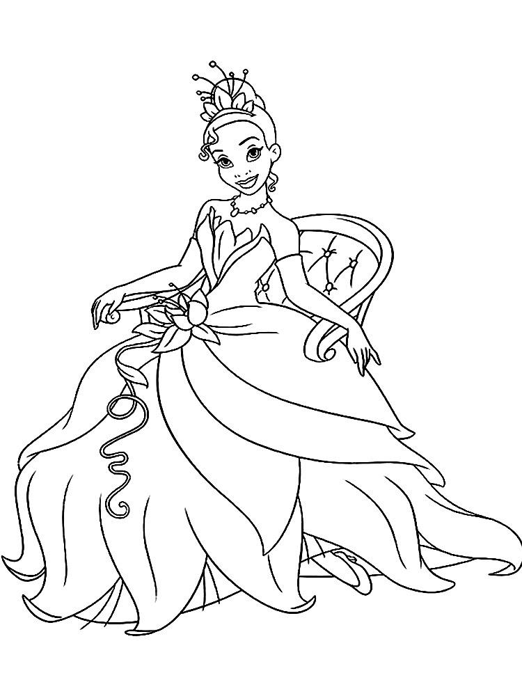Descargar Dibujos Para Colorear La Princesa Y El Sapo