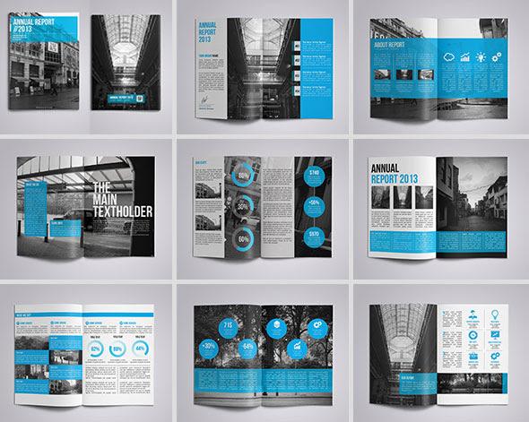 annual report indesign templates 40
