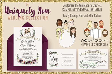 The Uniquely You Wedding Collection ~ Wedding Templates