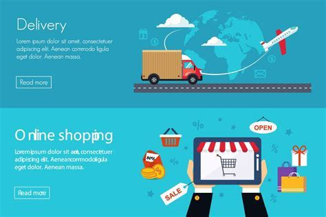 Flat banner online shopping ~ Illustrations ~ Creative Market