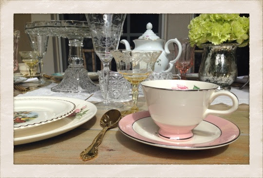 Vintage Dishes  to rent from Dirty Dishes
