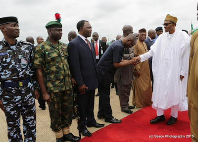 Buhari Arrives Back To Nigeria From Cameroon