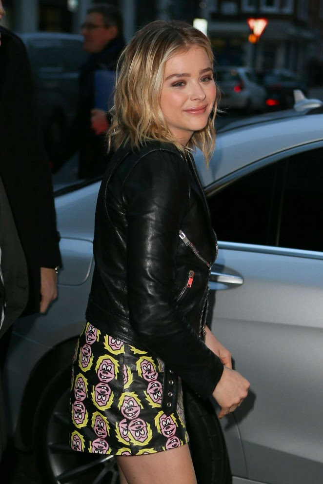 Chloe Moretz at BBC Radio One Studios -04