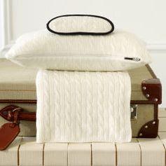 Cabled Cashmere Travel Set - Ralph Lauren Home Throws & Blankets - RalphLauren.com