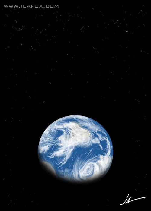 Dia mundial do planeta Terra, 22 de Abril, ilustração by ila fox