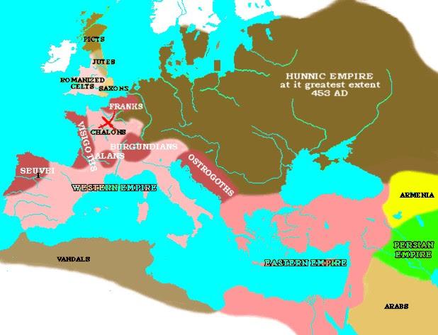 Risultati immagini per roman empire in v sec