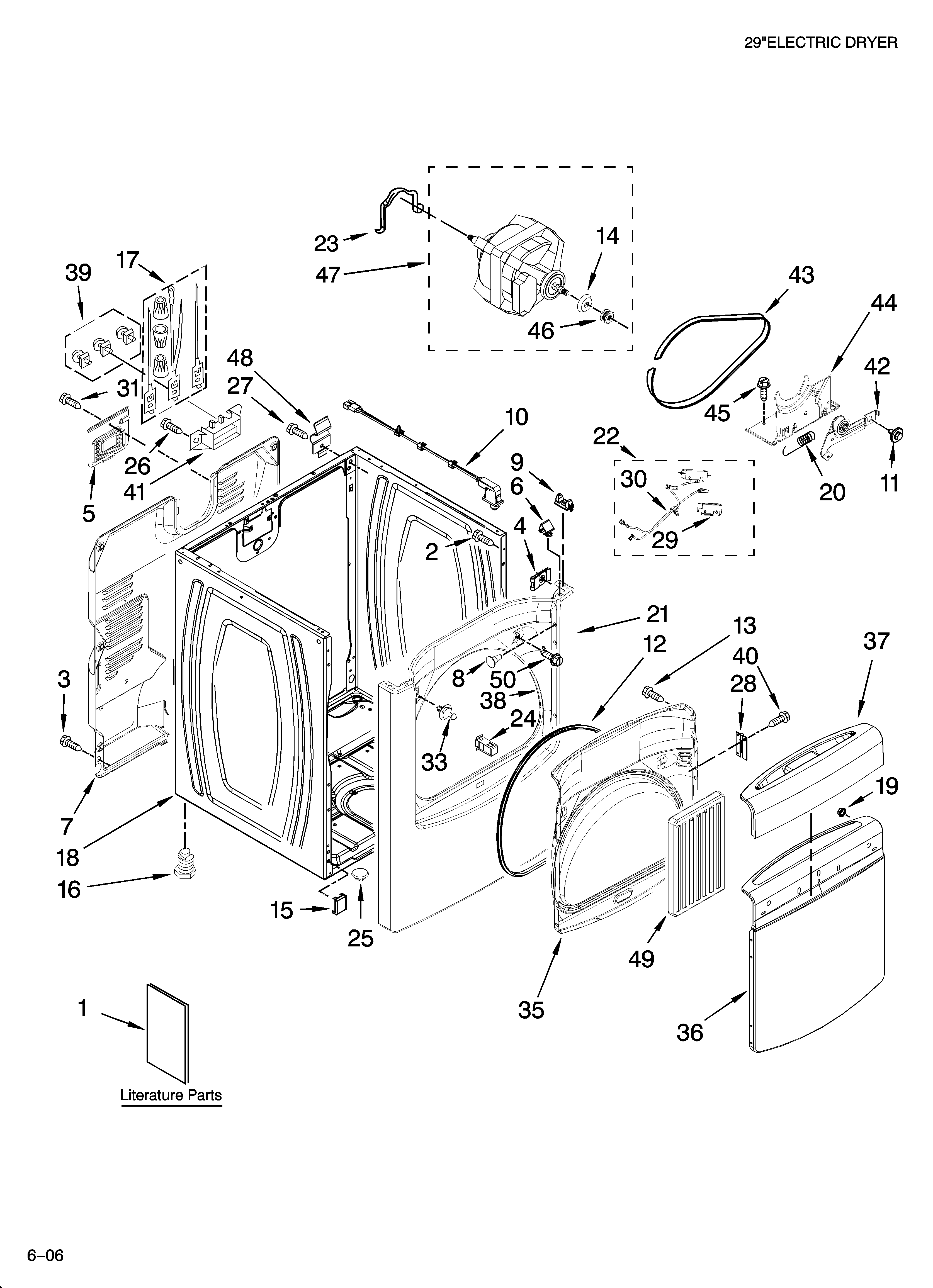 WHIRLPOOL RESIDENTIAL DRYER Parts | Model WED6200SW0 ...