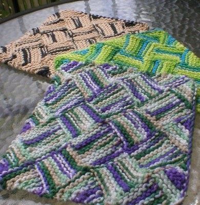 Left Handed Knitting Picking Up Stitches : Criminy Jickets: Garterlac Dishcloth