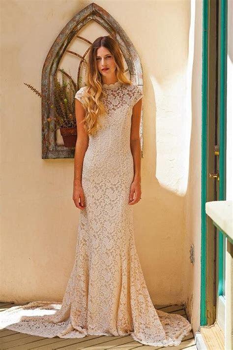 Simple Elegant LACE WEDDING DRESS W/ Cap Sleeve