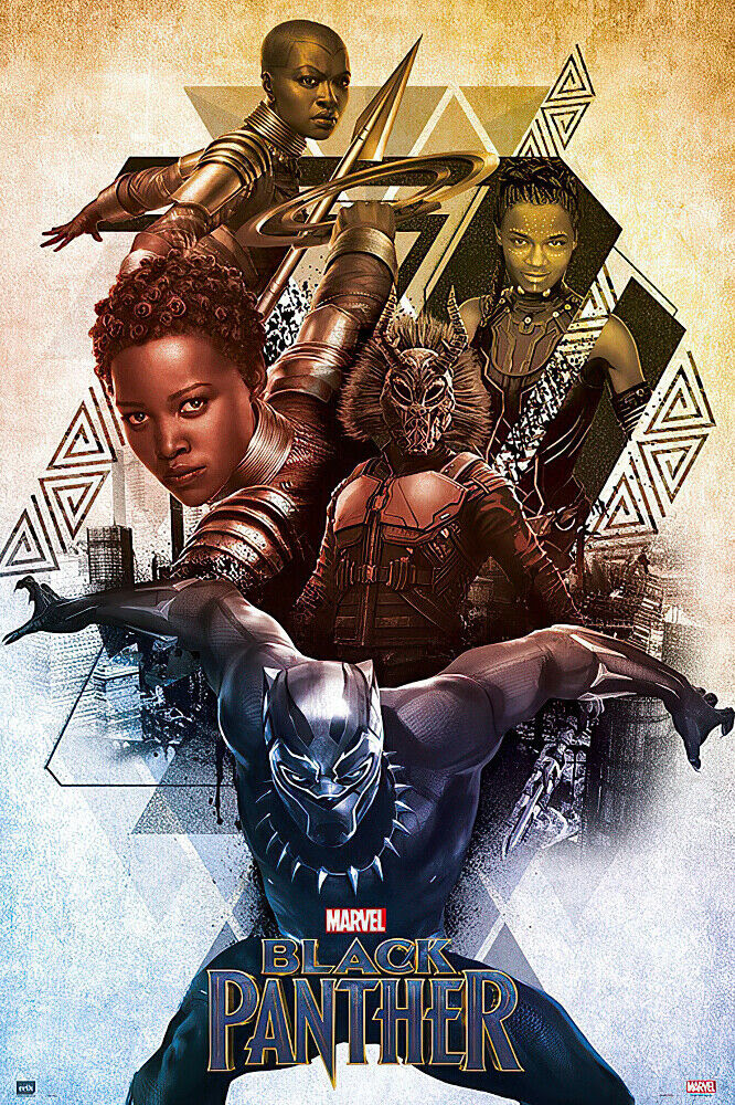 """BLACK PANTHER - MARVEL MOVIE POSTER / PRINT (CHARACTERS) (SIZE: 24"""" x 36"""") 