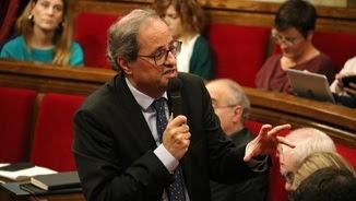El president de la Generalitat, Quim Torra, intervé en la sessió de control (ACN)