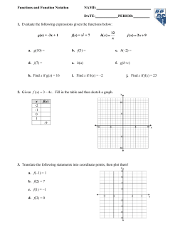 Function Notation Worksheet Answers