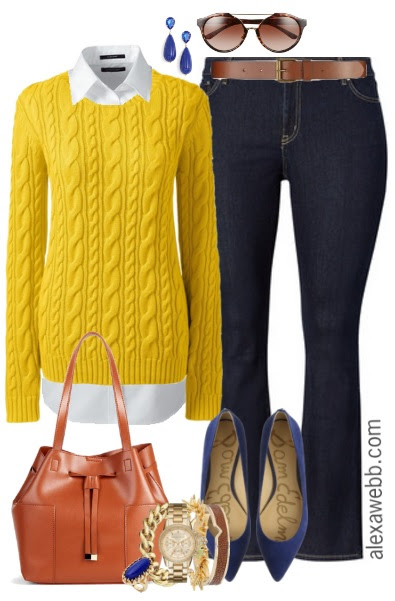 Outfit cardigan bright men yellow