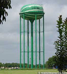 Watermelon water tower.
