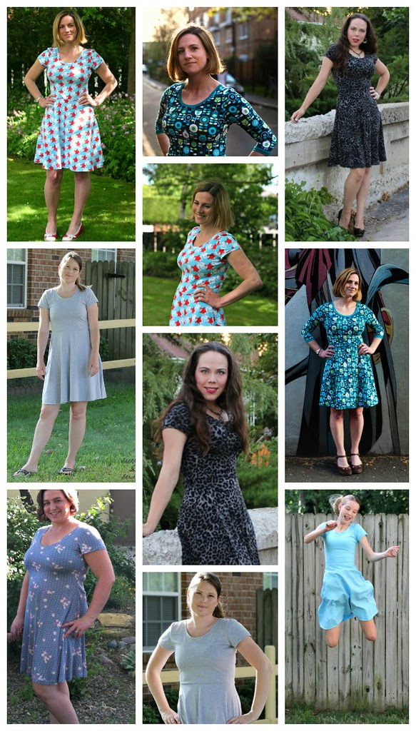 Big Girls' Skater Dress Collage