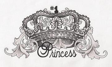 Awesome Princess Crown Tattoo Design