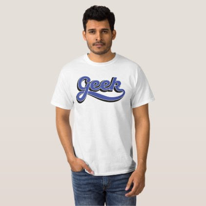 Geek in blue - T-shirt