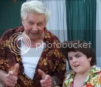 Ace ventura jr. and his grandpa in Ace Ventura 3.